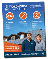 Roadhouse Roofing Brochure Cover